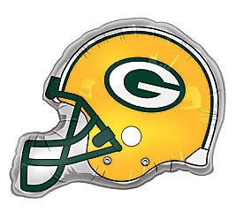 Green Bay Packers NFL Team 26 Helmet Shaped Party Mylar Foil Balloon