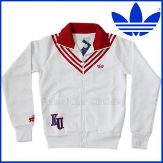 Adidas Originals Jayhawks Team Kansas Preppy Tracksuit Top White