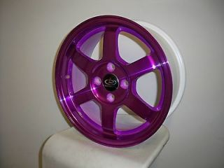 GRID PURPLE RIMS WHEELS 15x6.5 +40 4x100 CIVIC INTEGRA MIATA FIT XB XA