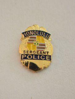 HONOLULU POLICE BADGE LAPEL PIN