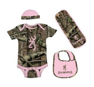 Browning Baby Camo 4 Piece Sets For Girls and Boys