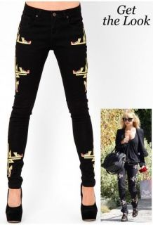 Isabel Marant similar black skinny jeans pants navajo, size 4,6,8,10