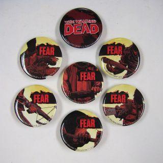 Dead Complete Pin Set 7 Buttons NEW KIRKMAN AMC TV IMAGE COMICS 2012