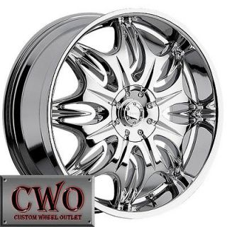 20 Chrome Incubus Jinx Wheels Rim 5x127/5x135 5 Lug Jeep Wrangler