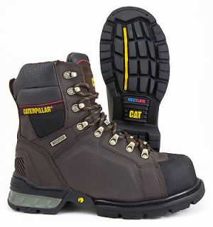 CAT (CATERPILLAR) EXCAVATOR DARK WATERPROOF INSULATED SAFETY BOOT WIDE