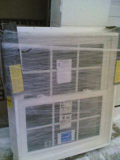NEW Nice White VINYL Double Hung WINDOW w/ Grids 32x38