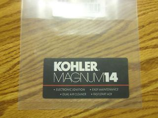 WHEEL HORSE KOHLER MAGNUM ENGINE DECAL 14 HP JOHN DEERE CUB CADET
