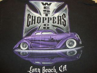 West Coast Choppers Long Beach CA Classic Chop Cars Black Graphic T