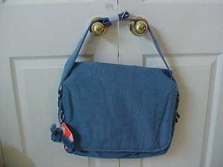 NWT Kipling TM3533 Hover Bag with Laptop Protection Blue Duaty Day TM