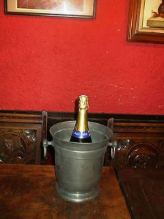 VINTAGE FRENCH PEWTER CHAMPAGNE WINE ICE BUCKET COOLER VERY HEAVY 2kg