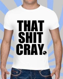 Cray  8 Ball T Shirt  Kanye West  Jay Z  Niggas In Paris  T Shirt