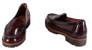 Sperry Top Sider Winsor Womens Cordovan Leather Heeled Loafers Medium