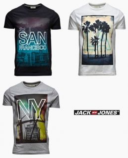 JACK & JONES T Shirt   New City Tee In 3 Styles **BNWT**