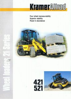 Kramer Allrad 421 / 521 Wheeled Loader Construction brochure 2000s