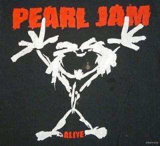 PEARL JAM Vintage CONCERT SHIRT 90s Tour T RARE ORIGINAL 1992 Alive