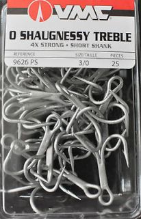 VMC 9626PS 9626 PS 25 Pack 4x Perma Steel Saltwater Treble hooks Size