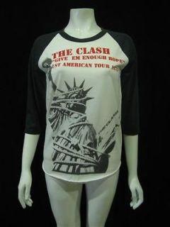 The Clash Punk Rock American tour 1979 T Shirt Women M