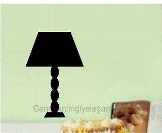 Light Lamp Vinyl Decal Wall Sticker Living Room Bedroom Decor