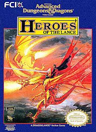 Advanced Dungeons Dragons Heroes of the Lance Nintendo, 1991