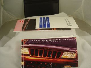 1999 JEEP GRAND CHEROKE OWNERS MANUAL & ORIGINAL FOLDER WITH EXTRAS 99