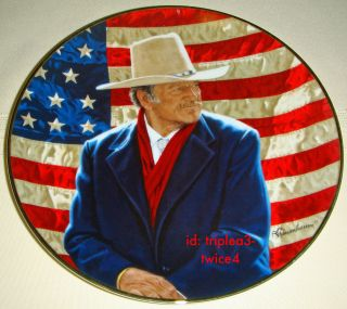 Franklin Mint John Wayne COWBOY LEGEND Very Nice American Patriot