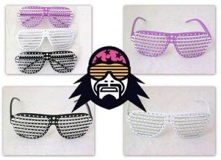 Macho Man Randy Savage Glitter Rhinestone Shutter Shades Glasses New