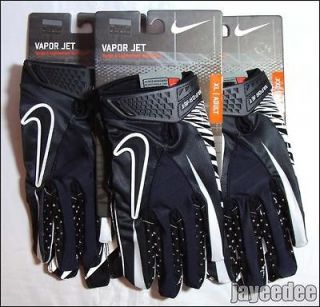 NIKE VAPOR JET FOOTBALL GLOVES BLACK/WHITE GF0080 002 carbon elite S M