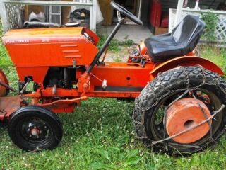 Power King Economy 2418 Tractor w/ Mower Deck Front Blade 3pt Hitch