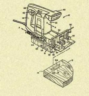 PORTER CABLE Biscuit Joiner Plate Joiner US Patent_W360