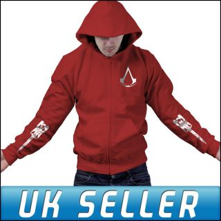 Assassins Creed 3 Join or Die PS3 Blade Zipped Hoody Hoodie Top Mens