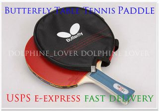 New Butterfly TBC201 FL Ping Pong Table Tennis Racket with cover
