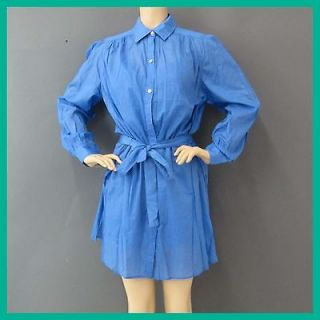 Jack Rogers Womens Sissy Solid Painter Smock,Newport Blue 8 Nwt Rtl $