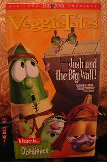 VeggieTales Josh and the Big Wall! VHS CHRISTIAN~NEW! We Ship UNLIMTED