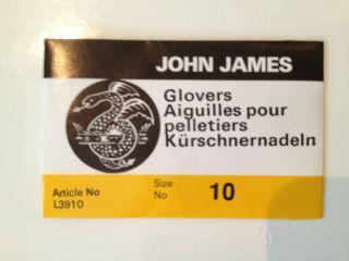 John James Glovers Needles (25pk) Sizes 1,2,3,4,5,6,7,8,10,12   Made
