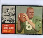 CUSTOM FOOTBALL PLAYER SONNY JURGENSEN PHILADELPHIA EAGLES 1962