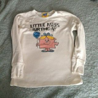 junk food little miss birthday pink long sleeve shirt m