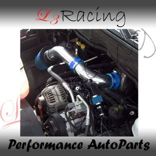 Dodge 03 06 Dakota 3.7 V6 4.7 V8 RAM AIR INTAKE KIT +BLUE FILTER