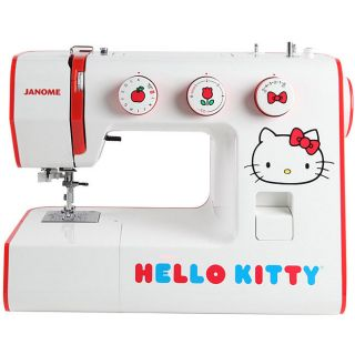 Janome Hello Kitty 15822 Heavy duty Sewing Machin   color   white with