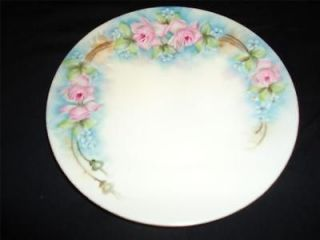 Antique Hutschenreuthe​r Selb Bavaria Dinner Plate Pink Shabby Rose
