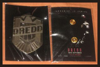 SDCC JUDGE DREDD KARL URBAN PIN POLICE SHIELD BADGE METAL COMIC CON