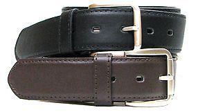 NEW Mens Black Leather Travel Belt Hidden Money Compartment 34/36