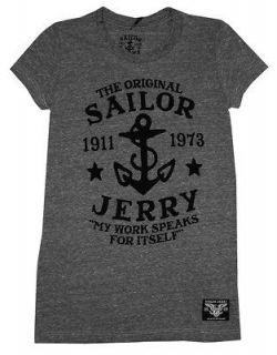 Sailor Jerry Anchor My Work Speaks For Itself Tattoo Artist Juniors T