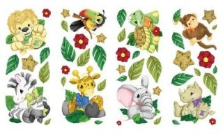 ZOOTLES Safari Zoo JUNGLE ANIMALS Theme Baby Nursery Decor WALL
