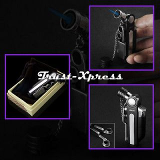 CIGAR PUNCH WINDPROOF TURBO JET FLAME TORCH CIGARETTE LIGHTERS w/BOX