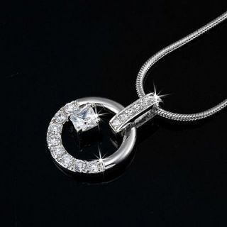 Newly listed Genuine Swarovski Elements Circle Pendant Necklace RRP $