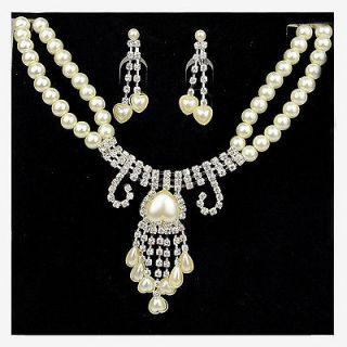 bridal jewelry sets pearl