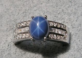 Newly listed VTG PLATINUM LINDE LINDY RED STAR SAPPHIRE RING SZ 4.5 W