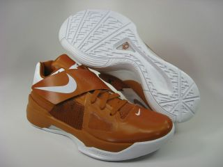 KD IV Desert Orange/White (Texas) 473679 801 Kevin Durant Texas 4s