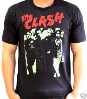 THE CLASH 80s UK Concert VTG Punk Rock T Shirt 2XL XXL