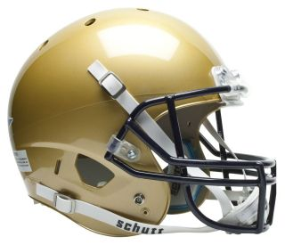 navy midshipmen schutt air xp replica football helmet time left